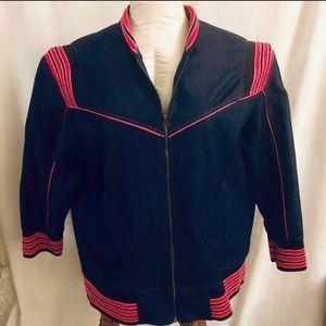 FineJeans Jackets & Coats - Denim Jacket and Blue Jeans Pink Trim Size 30 NWOT